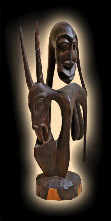 Makonde Shetani carving