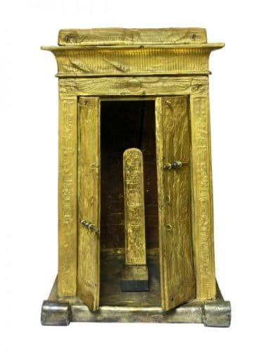 Gold-Guilded Wooden Shrine of Tutankhamun with Ebony Latches