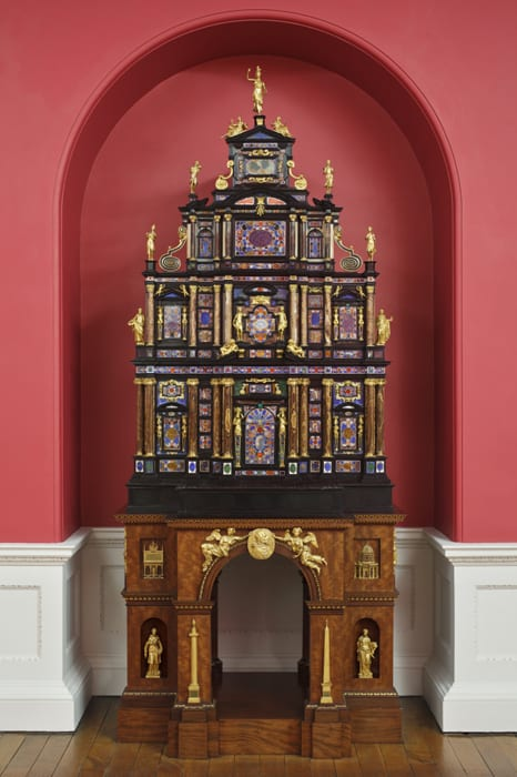 The Pope's cabinet after restoration, Stourhead, 2010
