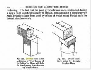 Dovetail cramp in architrave (beam) at Medinet Habu