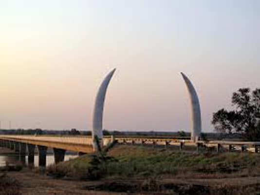 Unity Bridge between southern Tanzania and northern Mozambique.