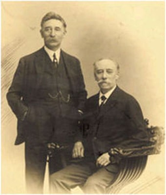 Alexandre Selmer on left and his brother Henri on right.